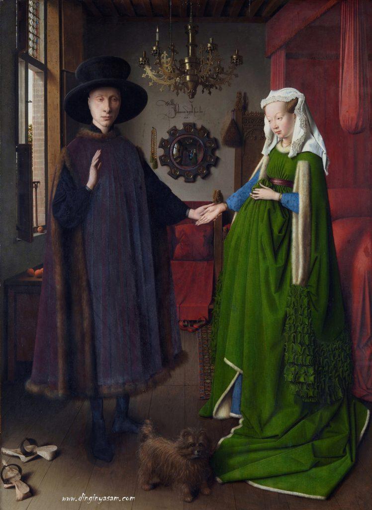 Jan van Eyck-Arnolfininin- Evlenmesi-sanatla-farket