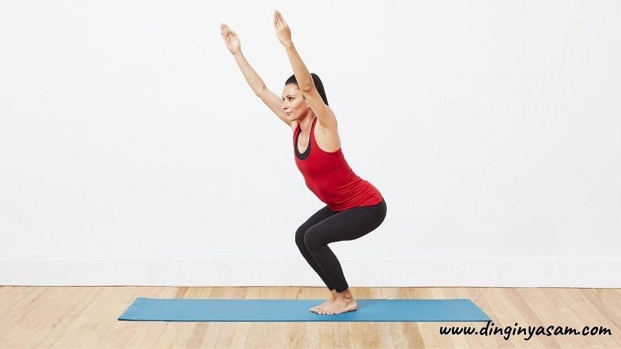 Yoga Sandalya Hareketi Utkatasana dinginyasam.com